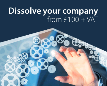 Dissolve your company from £100 + VAT