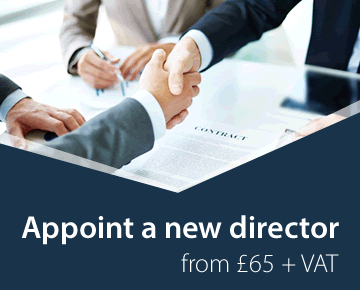 Appoint a new director from £65 + VAT